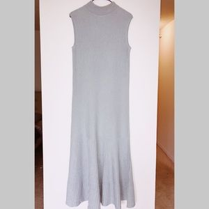 COS ribbed baby blue dress